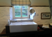 Dexter's huge  sink with lovely view from window